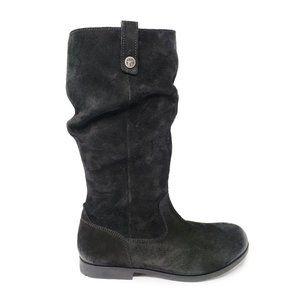 New Birkenstock Sarnia Tall High Suede Black Boots